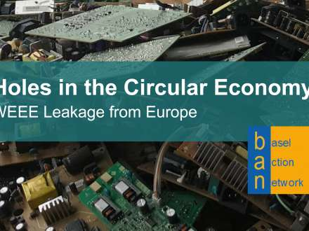 Holes in the circular economy - weee leakage from Europe