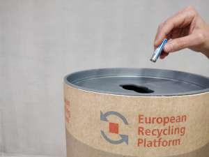 Contenedor para residuos de pilas y baterías