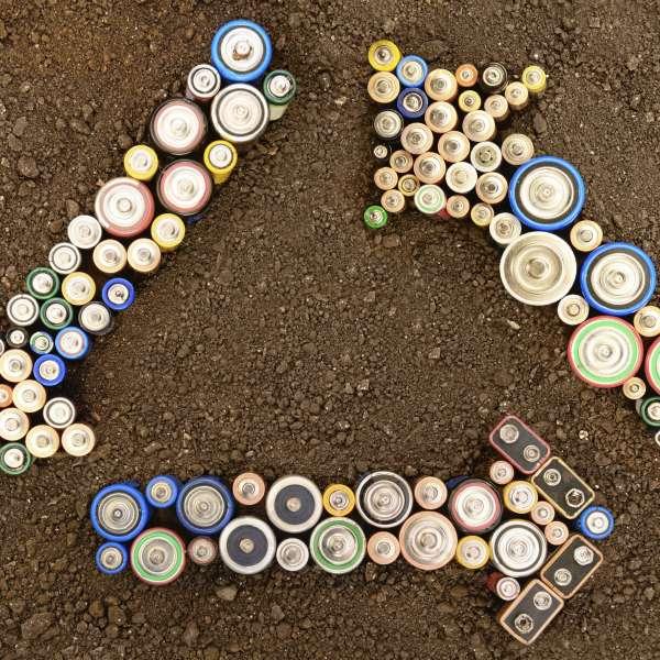 residuos de pilas baterías