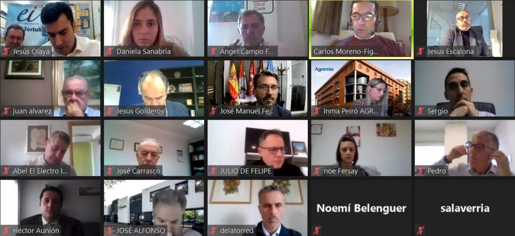 Participantes en la videotertulia de Electroimagen sobre el canal electro de Madrid