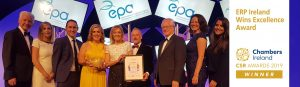 ERP Ireland winners of Chambers Ireland CSR Awards 2019