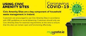 Covid19- Mywaste Civic Amenity Notice