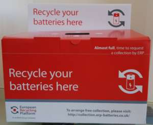 Image of battery collection box