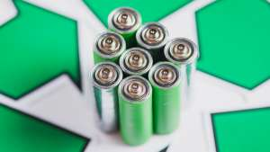 Image of green batteries