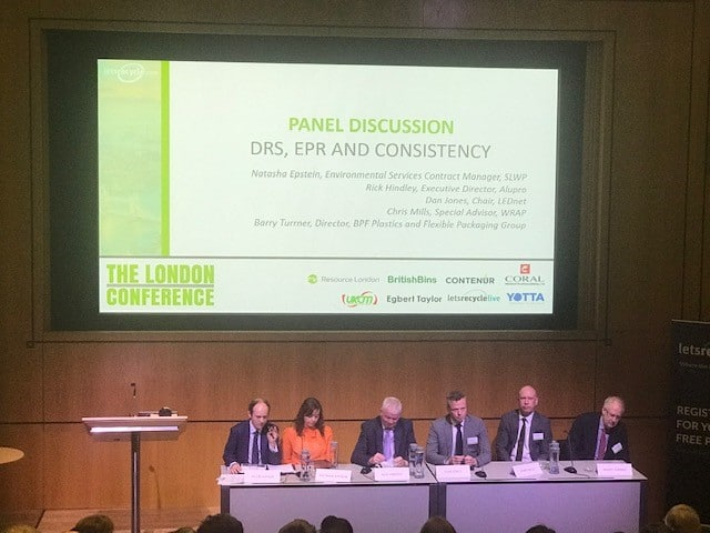 Photo of panel at London conference 2019