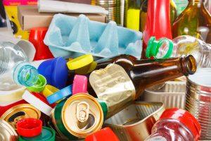 photo of various waste packaging