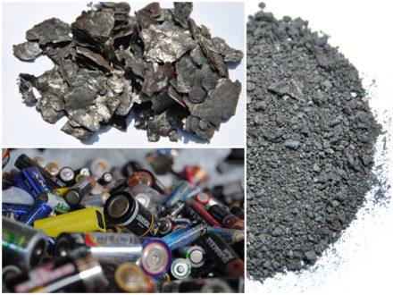 Residuos de pilas y black mass recuperada